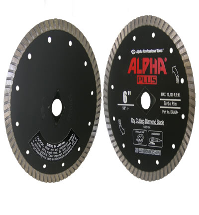 Alpha Plus Dry Diamond Blade 6""