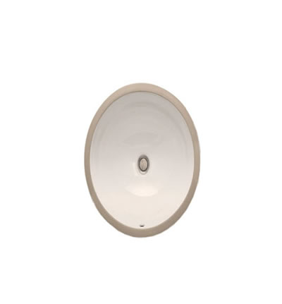 "Ceramic BEIGE Oval Small Sink 15""x12""x7."