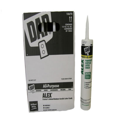 Alex Painters WHITE 25 Yrs Caulk Box(12p