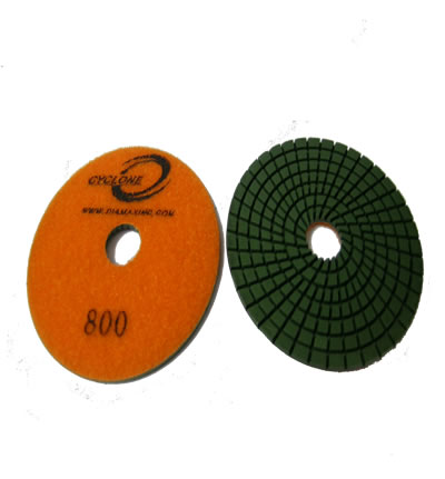 "Spiral 4""/800 WET Polishing Pad CYCLONE"